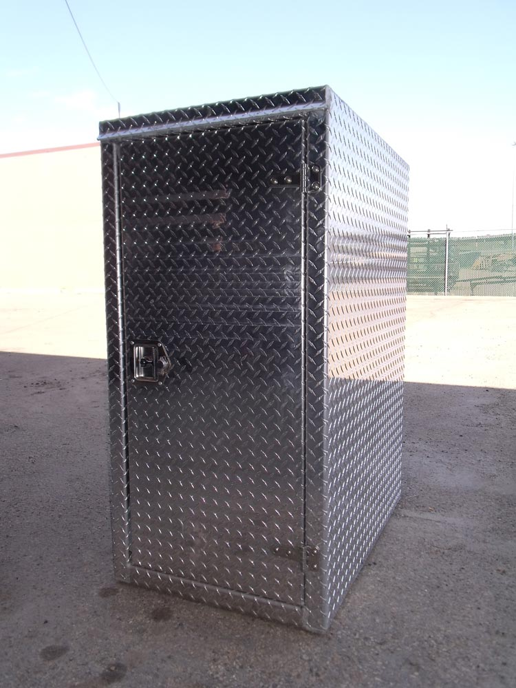 "3/16"" Aluminum Checker Cabinet"